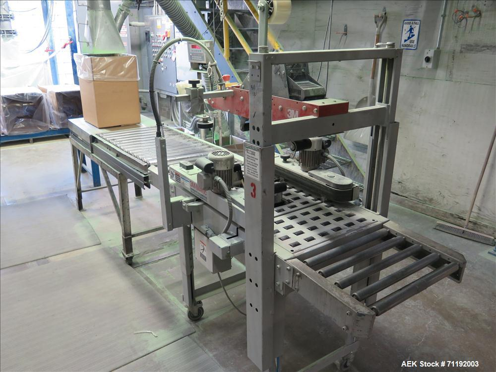 Used- 3M 120A Top and Bottom Case Taper, type 19700. Capable of speeds up to 25 cases per minute. Case size range: (Width) 4...