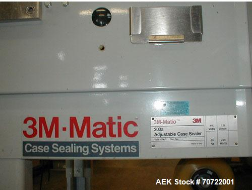 """Unused-3M-Matic Case Sealing System 200a Type 19000.  115V, 1.9 amps, 60 hz, 220W, adjustable height up to 18"""" and width fro..."""