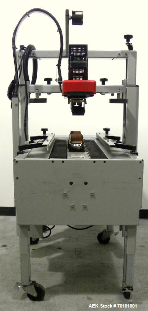 Used- 3M-Matic Top and Bottom Adjustable Case Sealer, Model 200A, Type 39600, Carbon Steel. Up to 40 cases per minute. Case ...