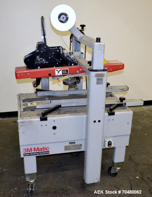 """Used- 3M-Matic Model 200ATop Only Adjustable CaseSealer. Up to40 cases per minute, minimum case size6"""" wide x4.75"""" high..."""