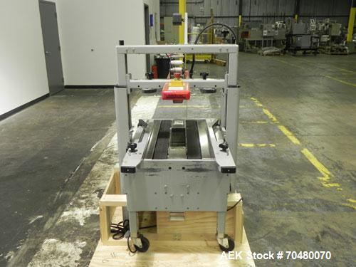 Used- 3M-Matic Top Only Adjustable Case Sealer, Model 200A, Type 39600, Carbon Steel. Up to 40 cases per minute. Case size r...
