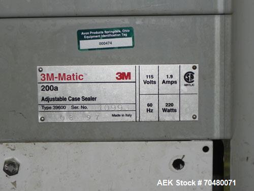 Used- 3M-Matic Top Only Adjustable Case Sealer, Model 200A