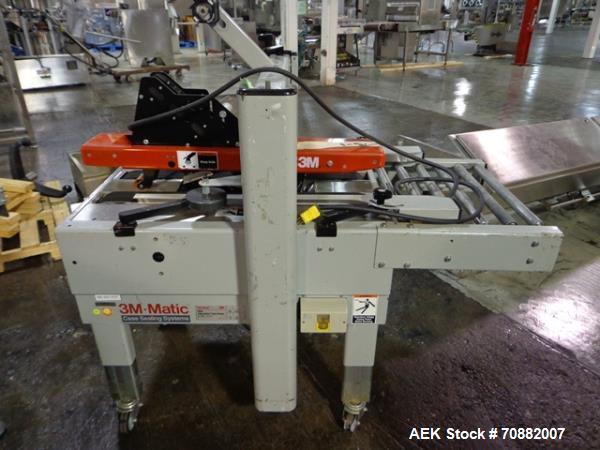 Used- 3M Model 200A, Type 19000 Case Sealer. Top and bottom seal, 115 volt, serial# 1813.