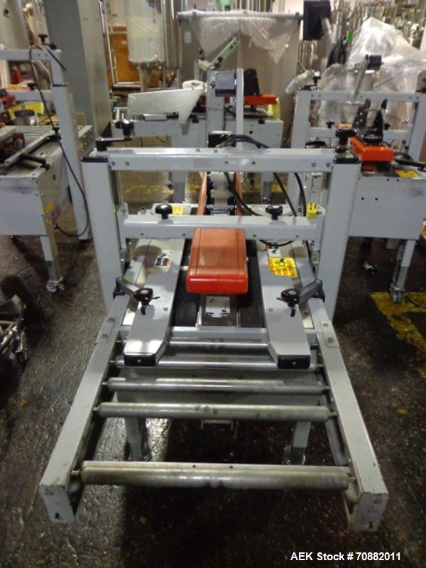 """Used- 3M Model 200A, Type 29200 Top and Bottom Adjustable Case Sealer. Up to 40 cases per minute, minimum case size 6"""" wide ..."""