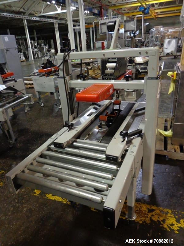Used- 3M Model 200A, Type 19000 Case Sealer. Top and bottom heads. Capable of speeds up to to 40 cases per minute, minimum c...