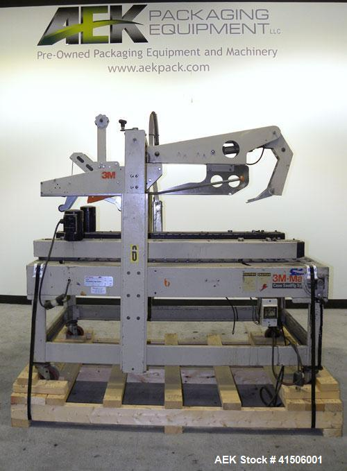 Used- 3M-Matic Top Only Adjustable Case Sealer, Model 12AF, Type 48800, Carbon Steel. Capable of speeds up to 26 cases per m...