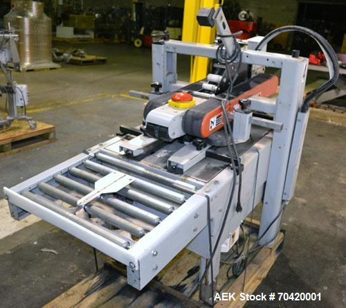 Used- 3M-Matic Top and Bottom Adjustable Case Sealer, Model 700A, Type 29200, Carbon Steel. Up to 30 cases per minute. Case ...