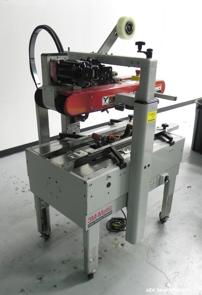 Used- 3M-Matic 700A Top and Bottom Adjustable Case Sealer. Type 29200 is capable of speeds up to 30 cases per minute. Case s...