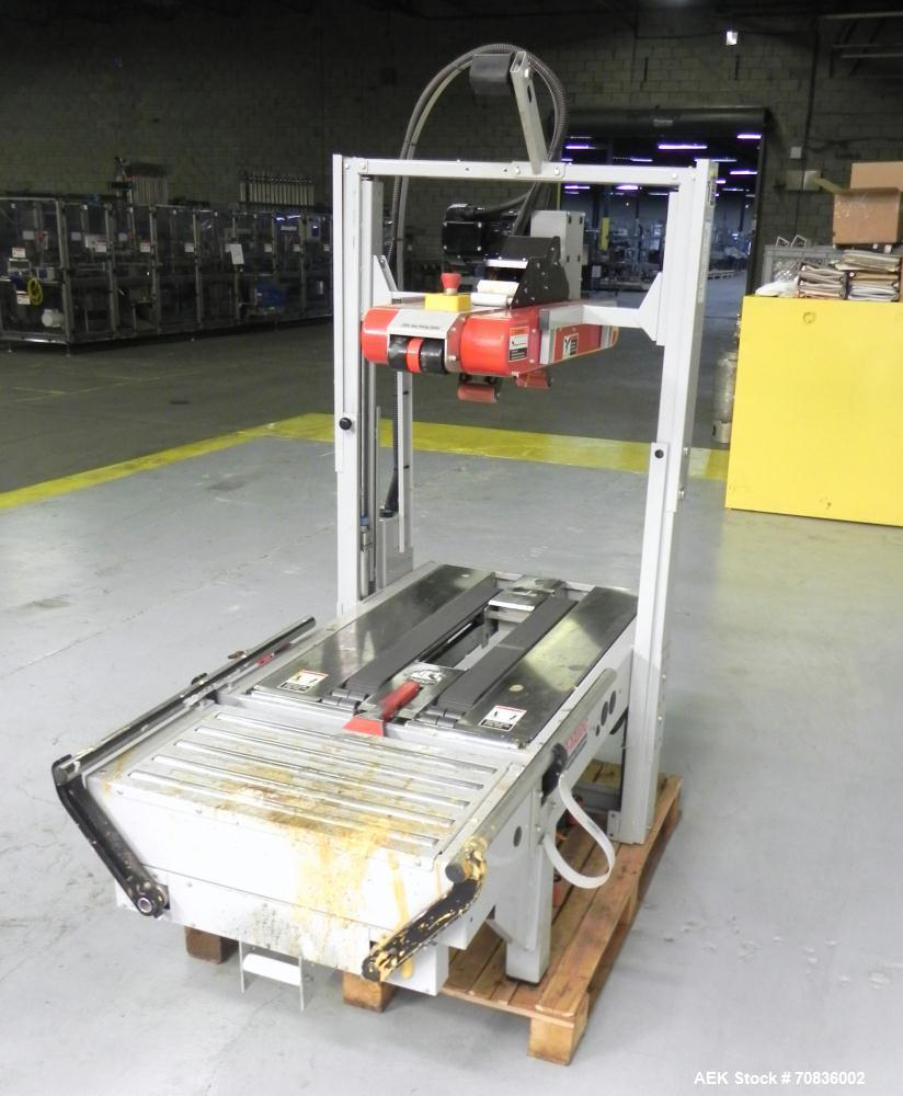 "Used- 3M-Matic Model 700RKS Top random Case Sealer. 3"" top tape head. Capable of speeds up to 15 cases per minute. Case size..."