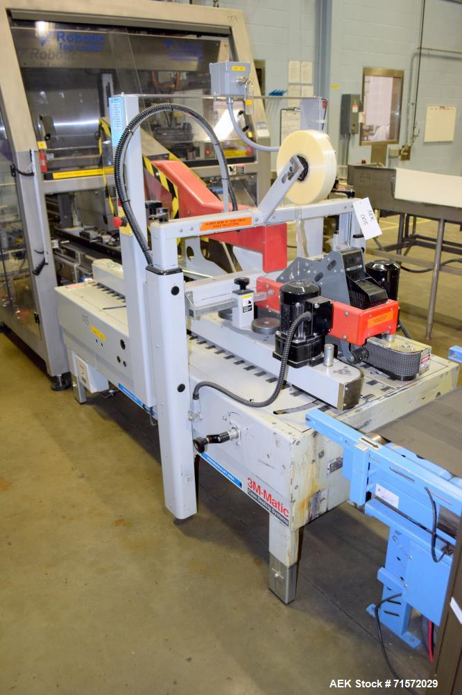 Used- 3M Model 800af Adjustable Case Sealer (type 39600). Machine is capable of speeds up to 28 cases per minute. Has a case...
