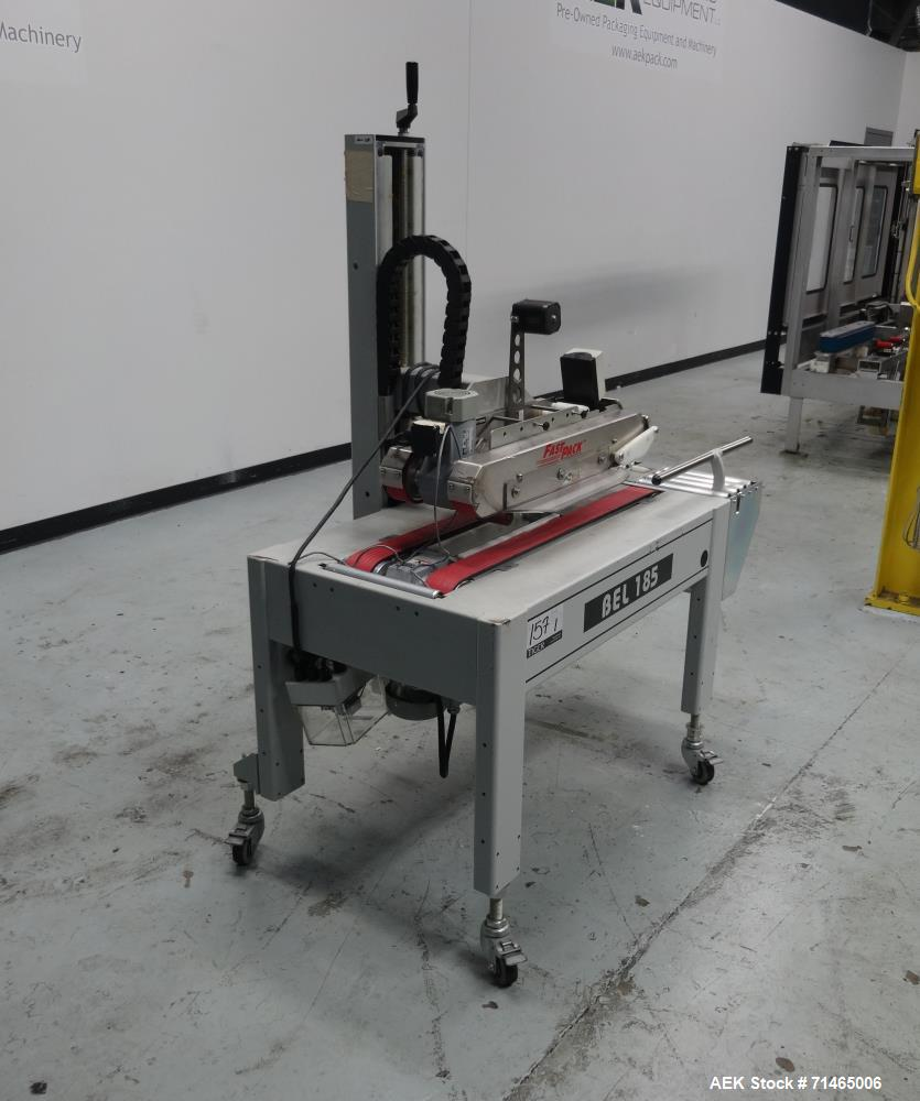 Used- Belcor (Wexxar) Model 185 Automatic Top Case Tape Sealer