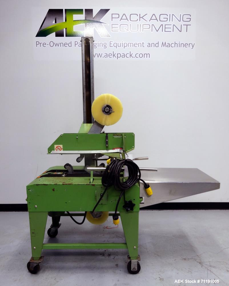Used- Loveshaw Little David Model LD3E Top & Bottom Tape Case Sealer. Capable of speeds up to 60 feet per minute. Box capaci...