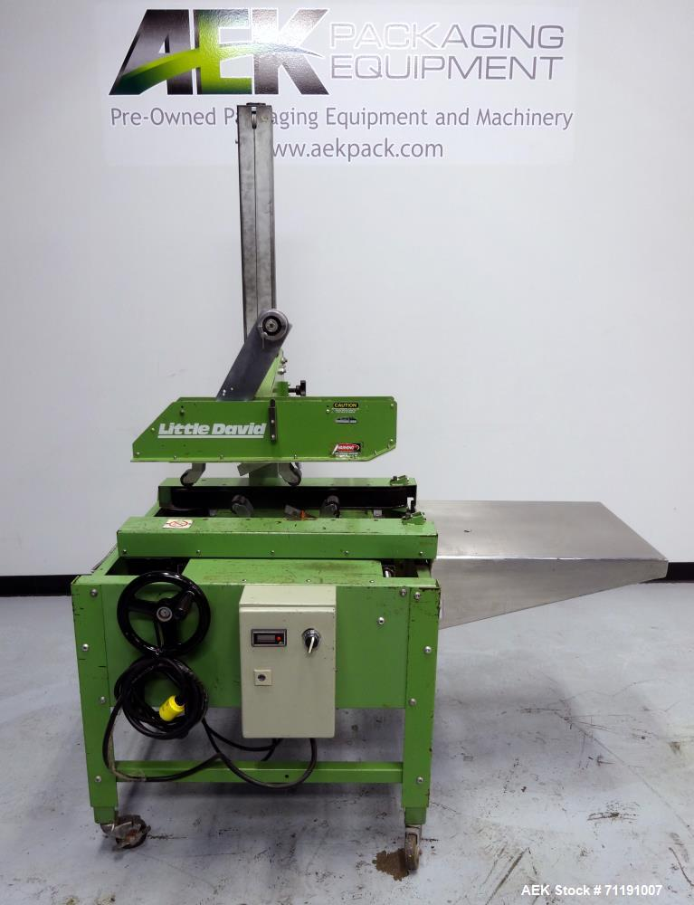 Used- Loveshaw Little David Model LD3SB Top & Bottom Tape Case Sealer. Capable of speeds up to 60 feet per minute. Box capac...