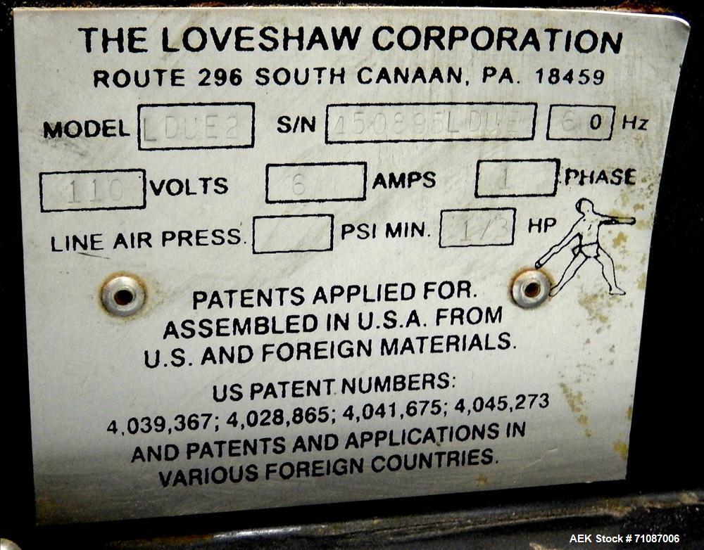 Used- Loveshaw Little David Model LDUE2 Top and Bottom Tape Case Sealer