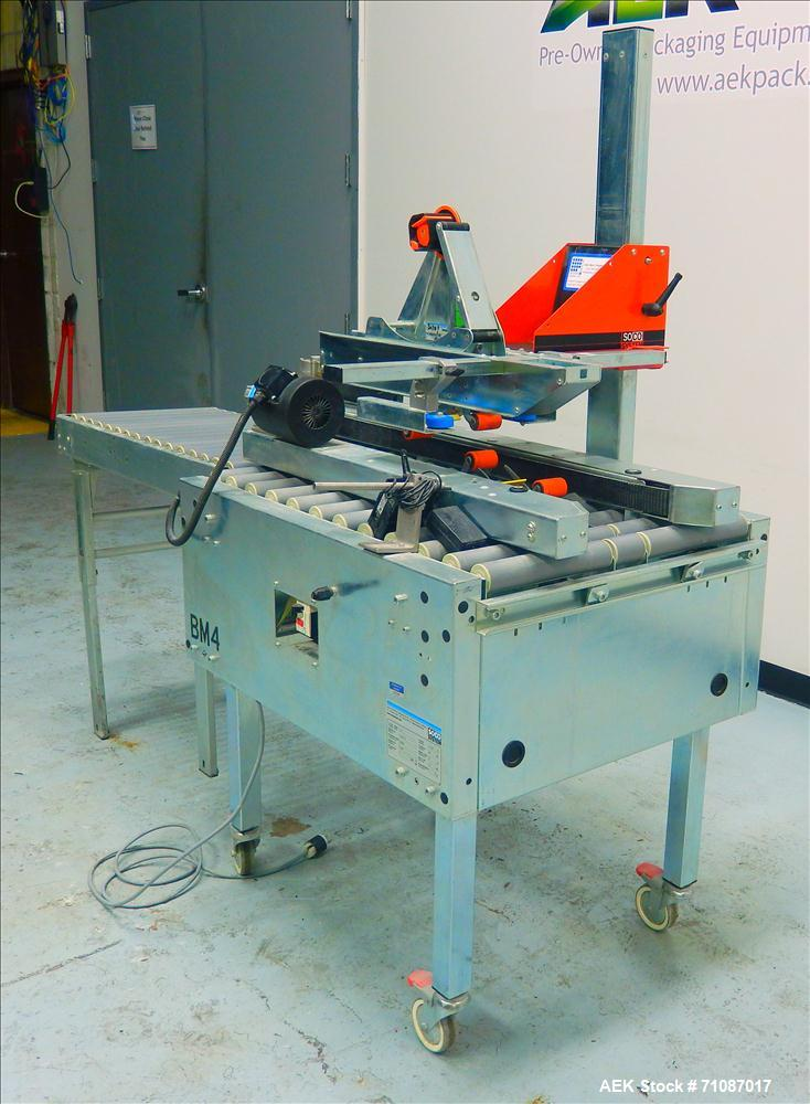 Used- Soco Model T-10 Top and Bottom Tape Case Sealer