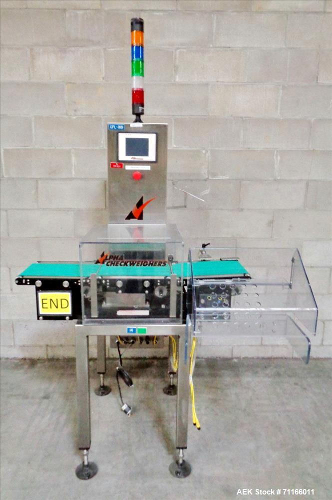 Used- Alpha (All-Fill) Checkweigher, Model PW-12.