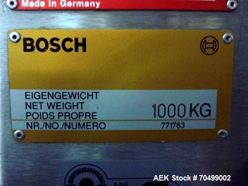 Used- Bosch Model KKE1500 with BOB Capsule Checkweigher. Capable of handling hard gelatin capsules in sizes from 00, 0, 1-4 ...