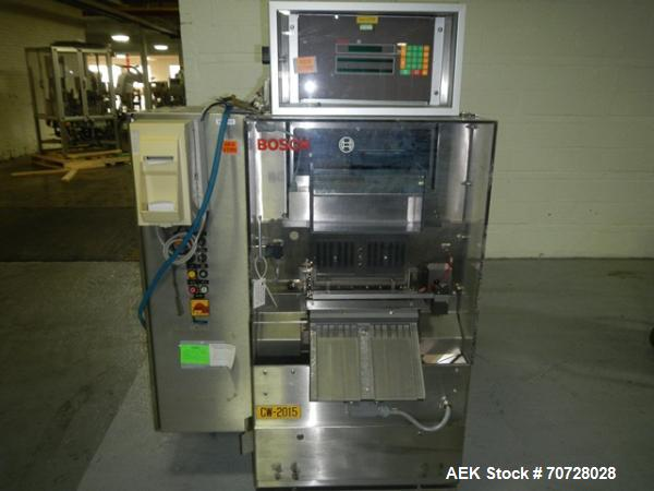 Used- Bosch Capsule Checkweigher, Model KKE1500 w/BOB. Capable of handling hard gelatin capsules in sizes from 00,0, 1-4 siz...