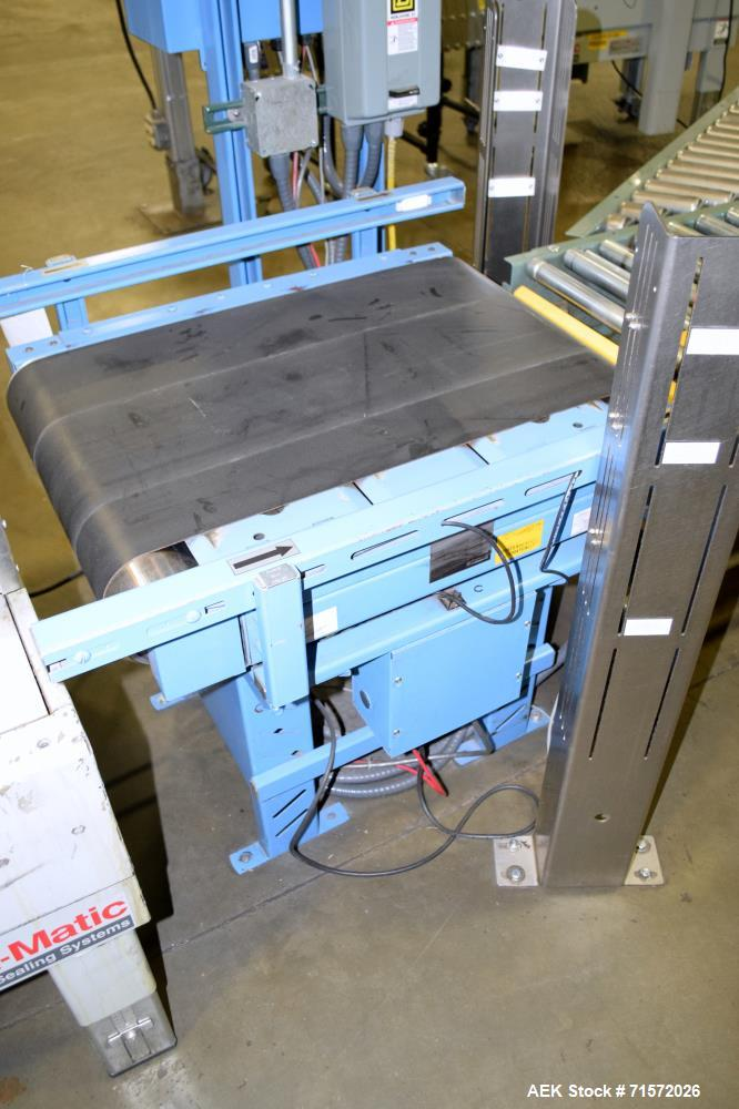 """Used- Control Systems MR30-18 Belt Conveyor Checkweigher. Approximate 50 pound capacity, 18"""" wide x 30"""" long rubber belt, sp..."""