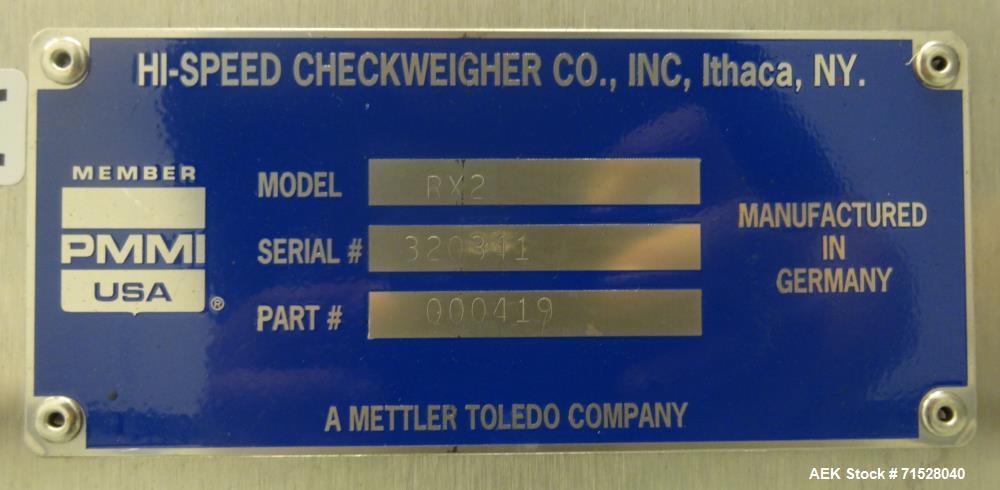 Used- Garvens Model RX2 Belt Checkweigher
