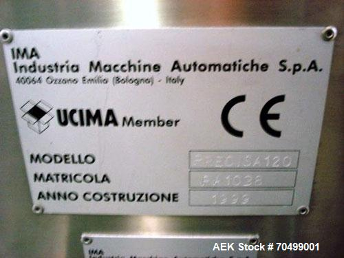 Used- IMA Model Precisa 120 Capsule Checkweigher. Machine is can operate at speeds up to 2,000 capsules a minute. dDsigned t...