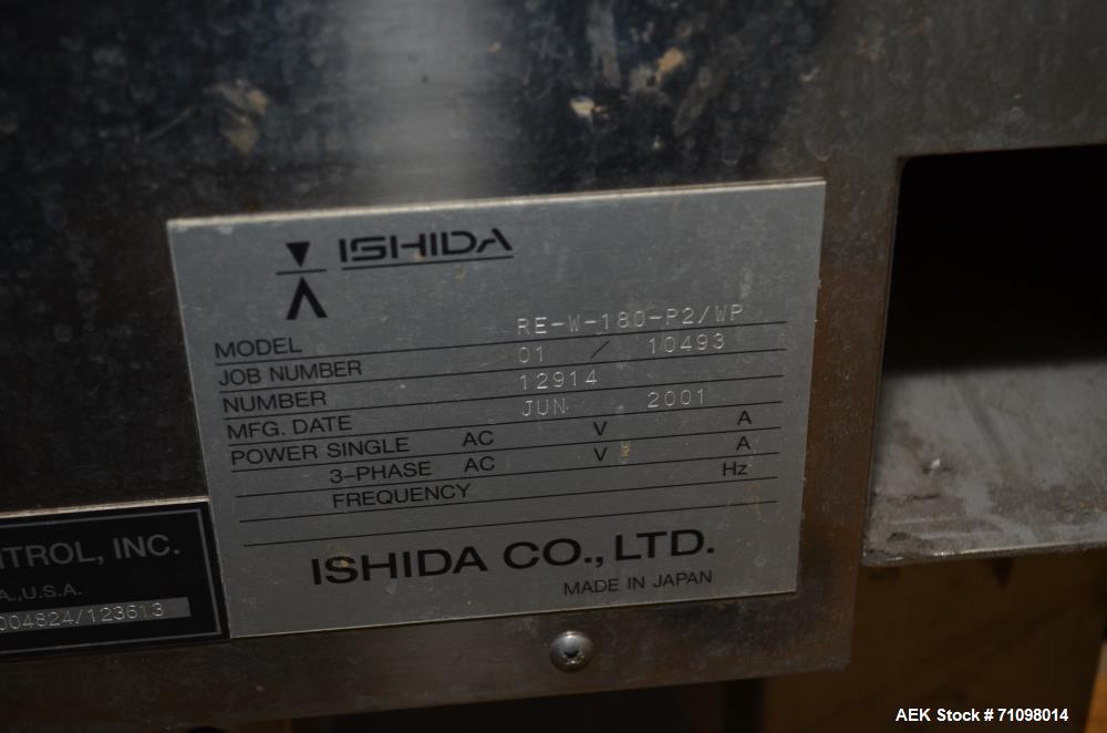 Used- Ishida Model DACSW180SBWPN 18 Kg Maximum Capacity Full Case, Shipper sized Checkweigher with Reject Conveyor Section. ...