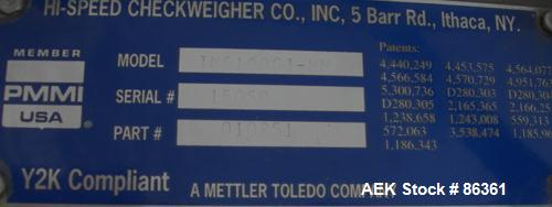 Used- Mettler Toledo High Speed Checkweigher, Model TM5100-GTMM