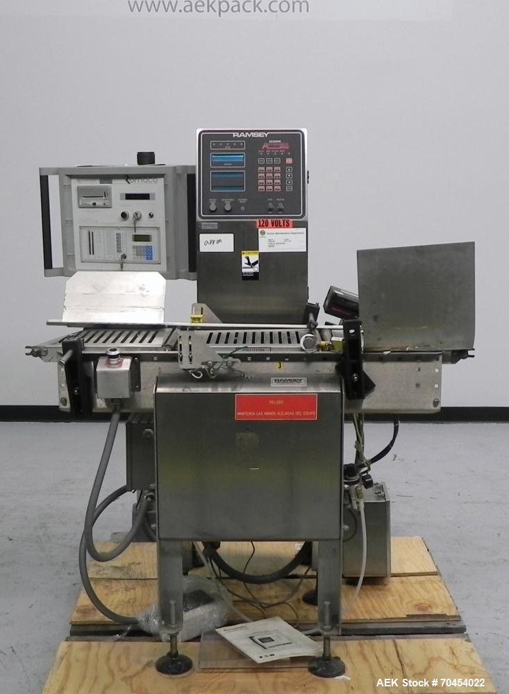 Used- Ramsey Model Accuckeck 8000 Inline Belt Checkweigher