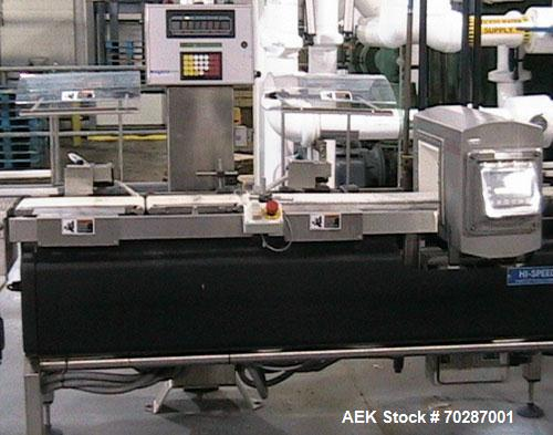 Used- Safeline Checkweigher combination system with belt infeed