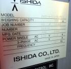 Used- Ishida DACS Belt Checkweigher, Model DACS-W-003-SB/PB-I. Weighing range 3 to 300 gram, weighing speed maximum 330 WPM,...