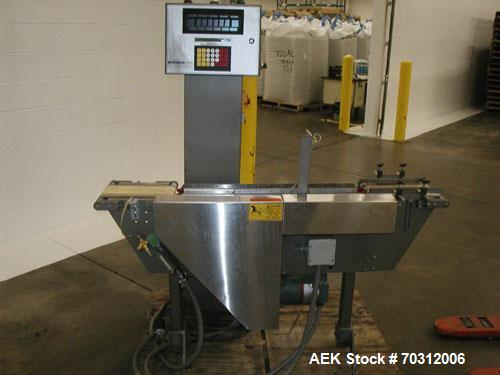 """Used-Hi-Speed Model AP7400CRMM (Mettler Toledo) Checkweigher. (3) sections: (1) 8"""" wide x 10"""" long infeed, (1) 8"""" wide x 30""""..."""