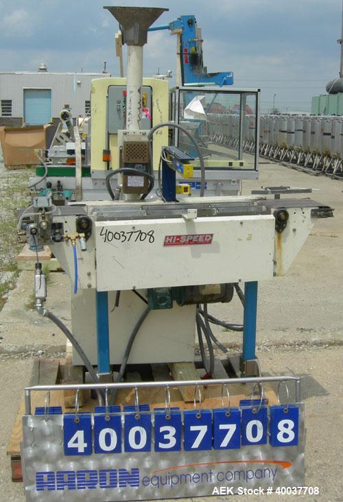 "Used- Hi Speed Check Weigher, Model AP78C. (1) 8"" wide x 11"" long infeed conveyor, (1) 8"" wide x 11"" long discharge conveyor..."