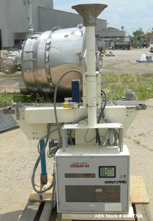 "Used- Hi Speed Check Weigher, Model AP78C. (1) 8"" wide x 11"" long infeed conveyor, (1) 8"" wide x 11"" long discharge conveyor..."