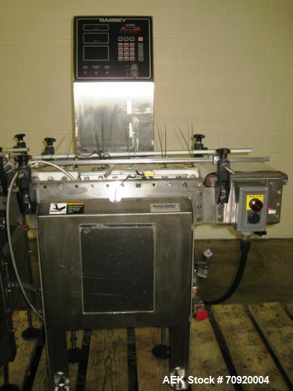 Used- Ramsey Icore AC8000 Checkweigher capable