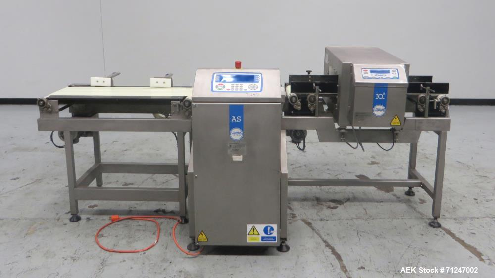 Used- Loma Model IQ2-AS Combination Metal Detector and Checkweigher
