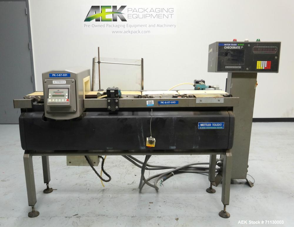 Used- Mettler-Toledo Model Checkmate2 Combination Checkweigher
