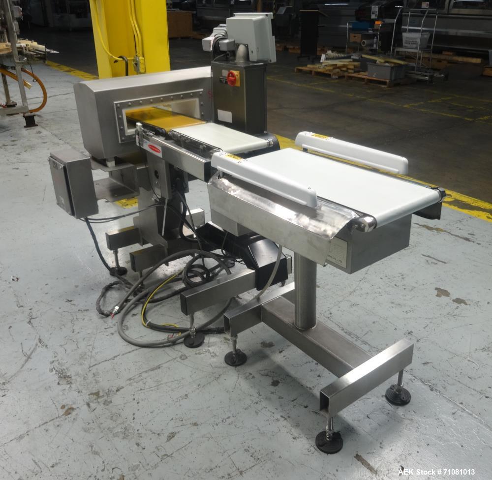 Used- SAFELINE - Ishida Combination Metal Detector Checkweigher