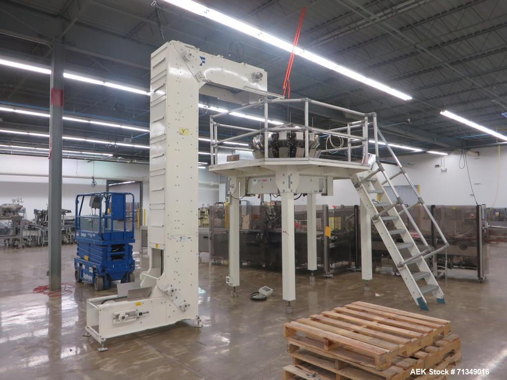 Used-Yamato CA15L-P0 combination checkweigher with Safeline metal detector. Weight range from 10g to 1500g with accuracy of ...