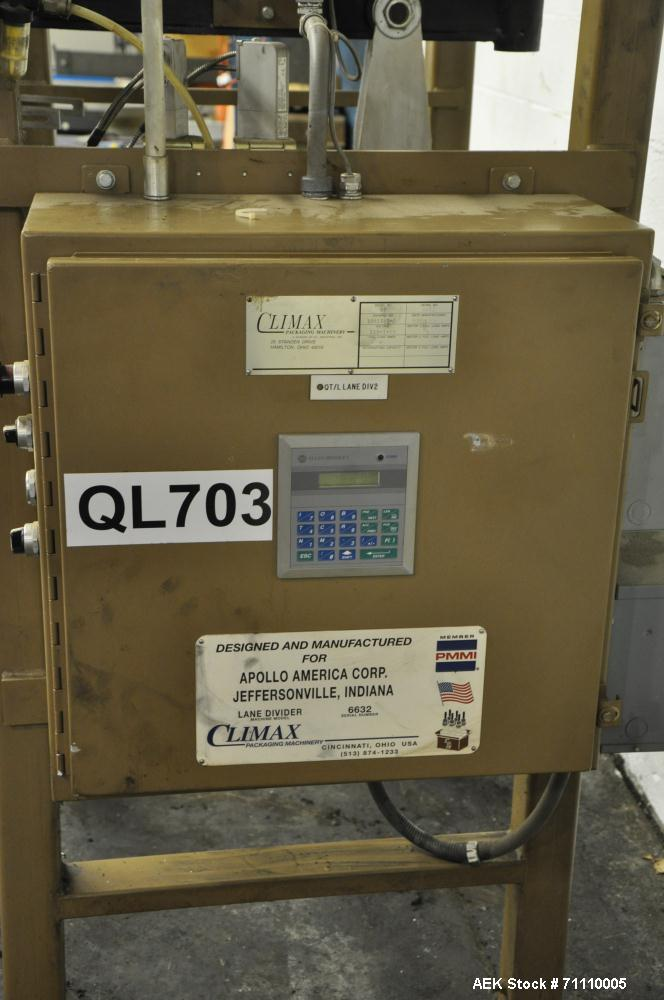 Used- Climax Lane Diverter, Model LD.  1 Quart plastic container, A and B.  Manufactured 1998.