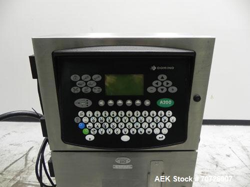 Used- Domino A200 Small Character Ink Jet Coder, Model A200