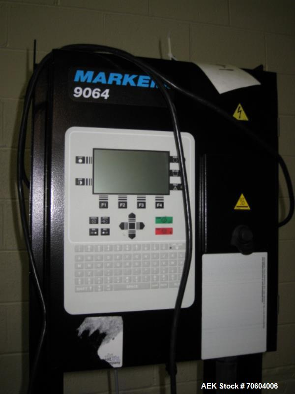 "Used- Markem Model 9064 Ink Jet Coder. Small character coder with print height up to 1"" or 25.4 mm.  Message length up to 14..."
