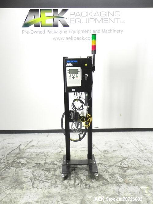 """Used- Markem Model 9064 Ink Jet Coder. small character coder with print height up to 1"""" or 25.4 mm. Message length up to 14""""..."""