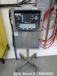 Used-Domino Ink Jet Coder, A-Series Plus.  On a stand with casters.