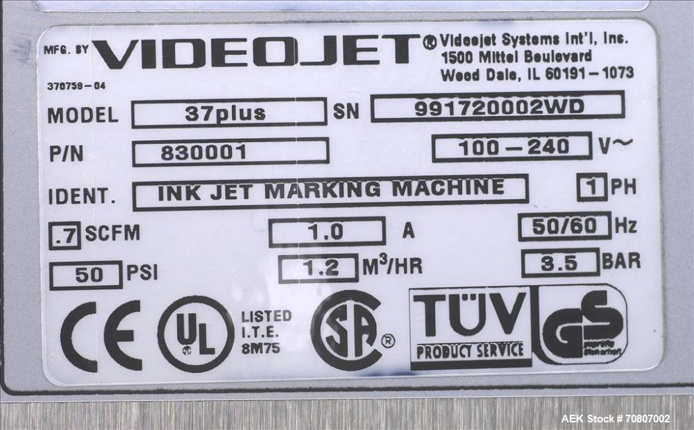 Used-Video Ink Jet Marking Machine, Model 37 Plus