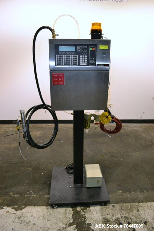 Used- VideoJet Excel/100 Single Head Ink Jet Coder.