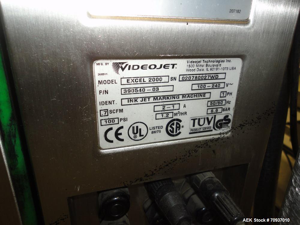 Used-Videojet Ink Jet Printer, Model Excel 2000