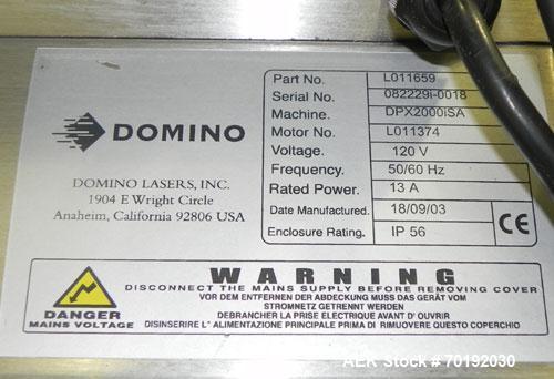 Used- Domino Model DSL1 Laser Scribing System