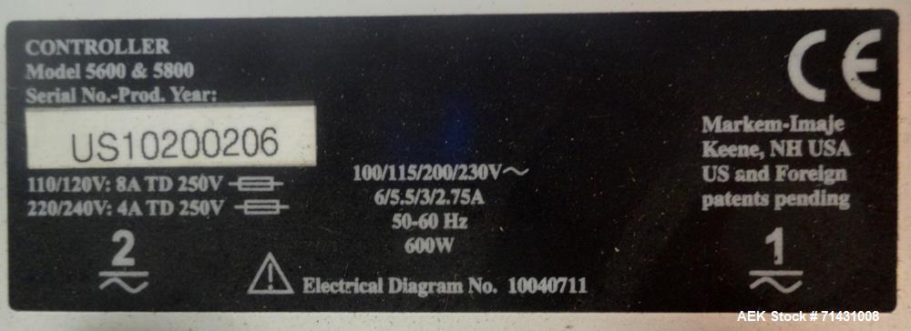 Used- Markem Imaje Model 5800 Laser Coder