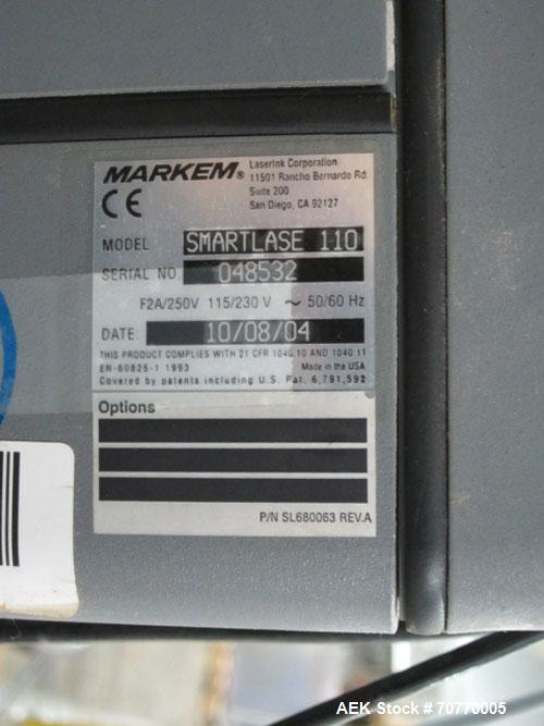 Used- Markem Model Smartlase 110 Laser Coder