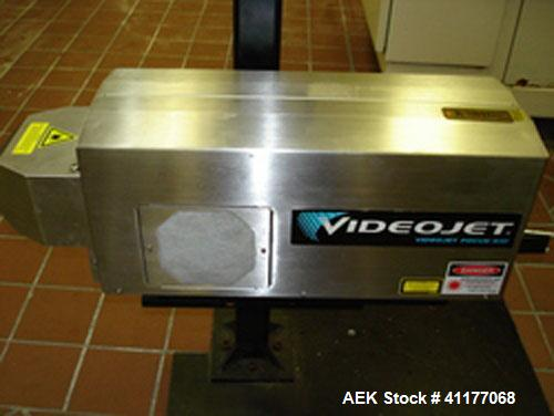 Used- Videojet Focus 1000 Laser Coder with adjustable stand